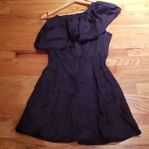NWT - One Shoulder Navy Dress